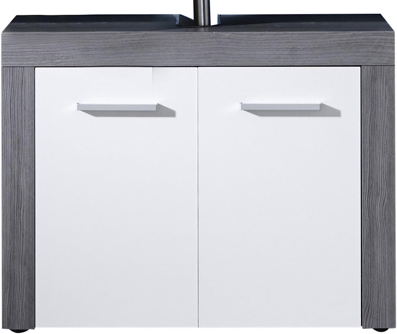 trendteam smart living Muebles Gabinete de la vanidad, Madera, Gris, 72 x 56 x 34 cm