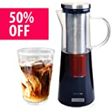 Cold Brew Coffee Maker and Tea Infuser by Cooxon - Premium quality cold coffee brewer, airtight, durable and BPA Free, 1L/34Oz with with Removable Stainless Steel Filter, dishwasher safe