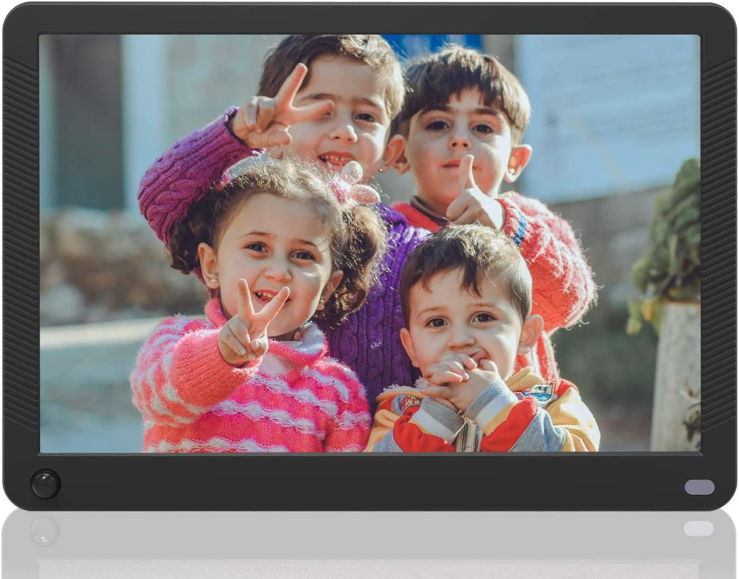 Electronic Photo Frames 17.3 inch LED 1920/×1080 High Resolution IPS Display Photo//MP3// MP4// E-Book//Clock//Calendar Funtion,Support USB Disk//SD//MMC//MS Card with Remote Control,Black