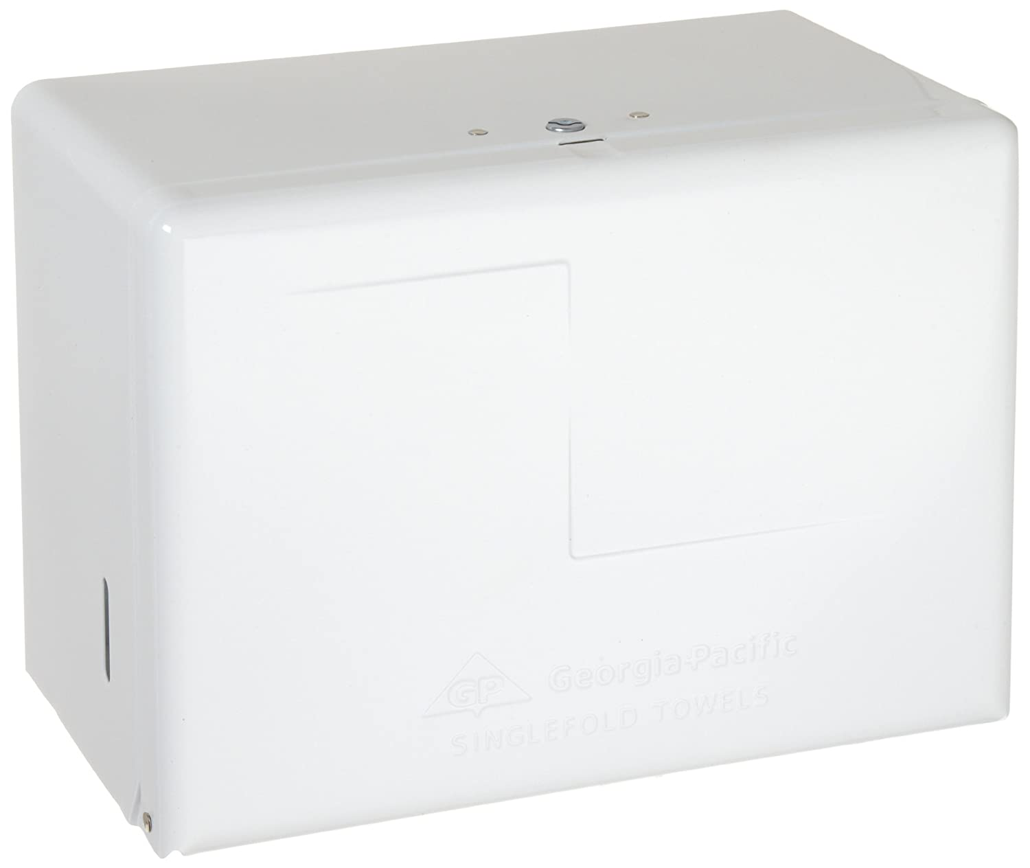 "Singlefold Paper Towel Dispenser by GP PRO (Georgia-Pacific), White, 56701, 11.625"" W x 6.625'' D x 8.125"" H"