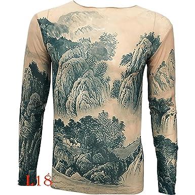 Uniqstore Nueva China Paisaje Pintura Palacio Tatuaje Camiseta ...