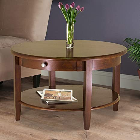 Terrific Amazon Com Round Coffee Table Living Room End Table Machost Co Dining Chair Design Ideas Machostcouk