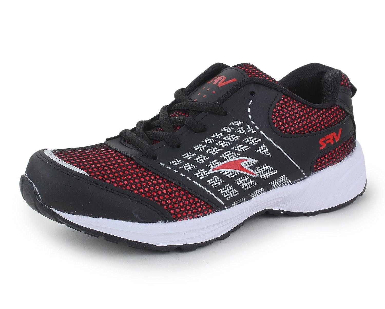 ca4c1c324912b TRASE SRV Trump Black/Red Sports Shoes for Men-10 IND/UK: Buy Online ...
