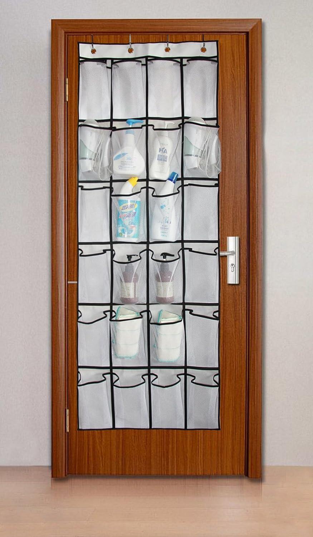 portascarpe in rete da appendere alla porta con 24/grandi tasche White Misslo