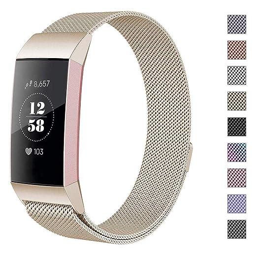 468cf1f0e1c9 Hooroor - Correa de repuesto compatible para Fitbit Charge 3 y ...