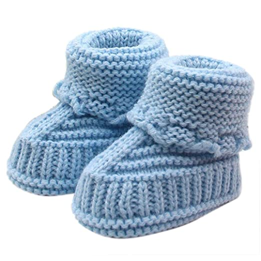 30f92e630 Image Unavailable. Image not available for. Color  Franterd Unisex Boy Girl  Baby Newborn Infant Hand Knitting Crochet Buckle Shoes Socks Boots
