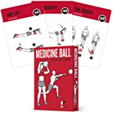 Medicine Ball Exercise Cards, Set of 62 - for a High Intensity Home or Gym Workout :: 50 Exercises for All Fitness…
