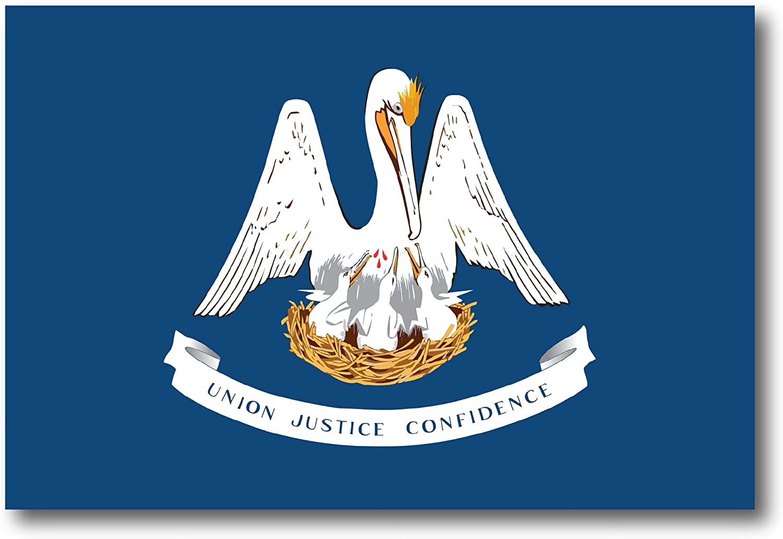 Louisiana Car Magnet US State Flag Refrigerator Locker SUV Heavy Duty Waterproof…