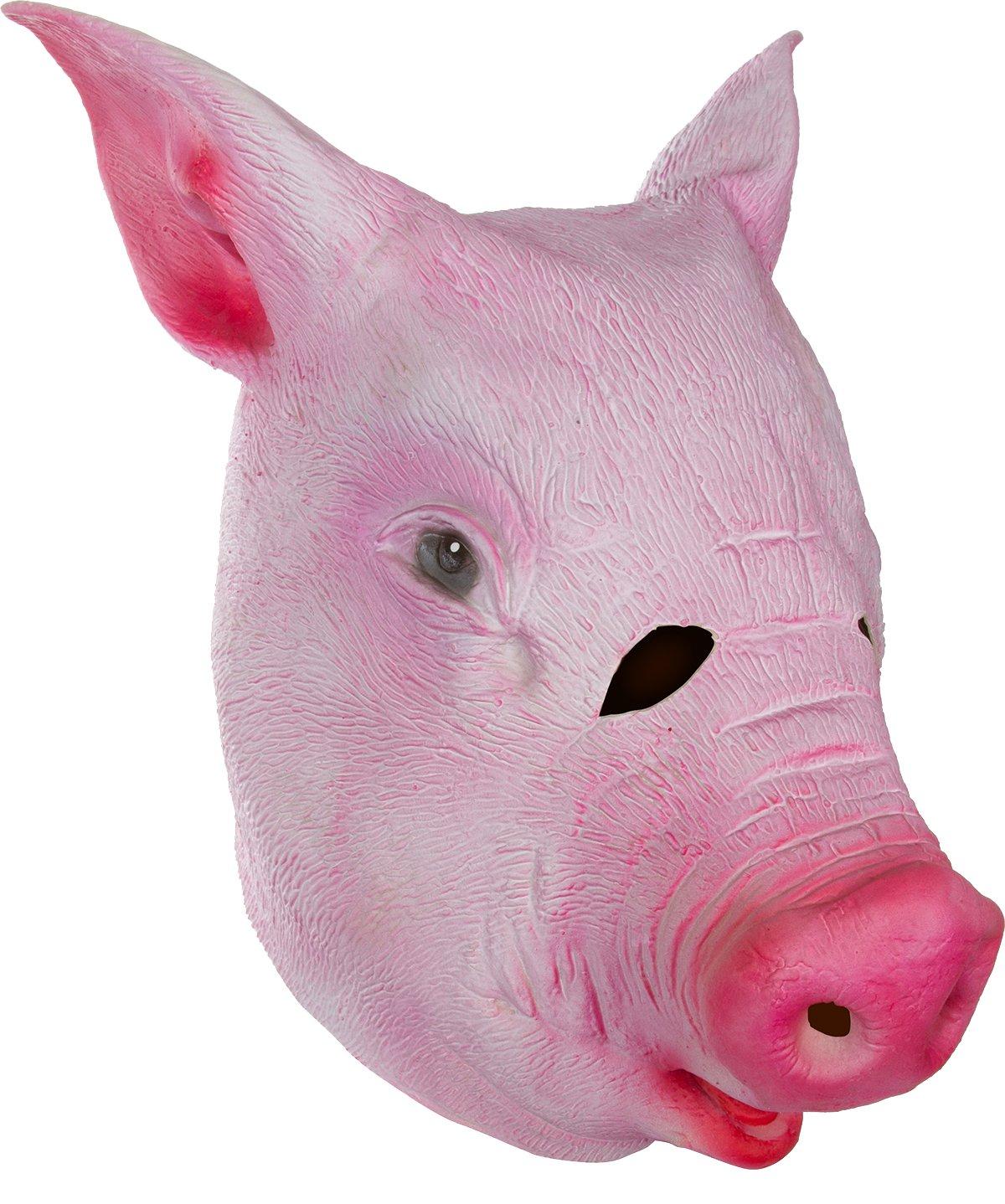 Amazon.com: Capital Costume Giant Animal Masks Pig Head Costume ...