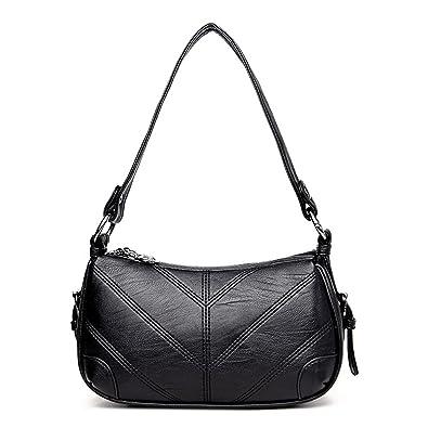 9950304a69 Amazon.com: Pajamasea New Women Leather Handbags Sac A Main Small Hobo Bags  Women Handbags 2018 Luxury Crossbody Bag Black: Shoes