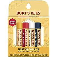 Burts Bees Set for Unisex, 4 Piece (0.15oz Beeswax, 0.15oz Strawberry), 453.59 grams