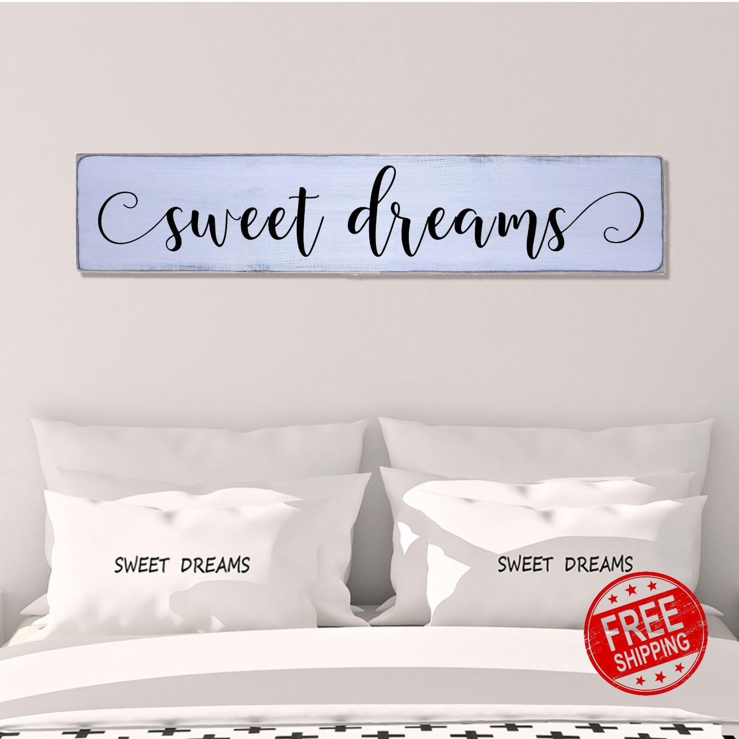 Amazoncom Sweet Dreams Modern Handmade Farmhouse Style Wall Art