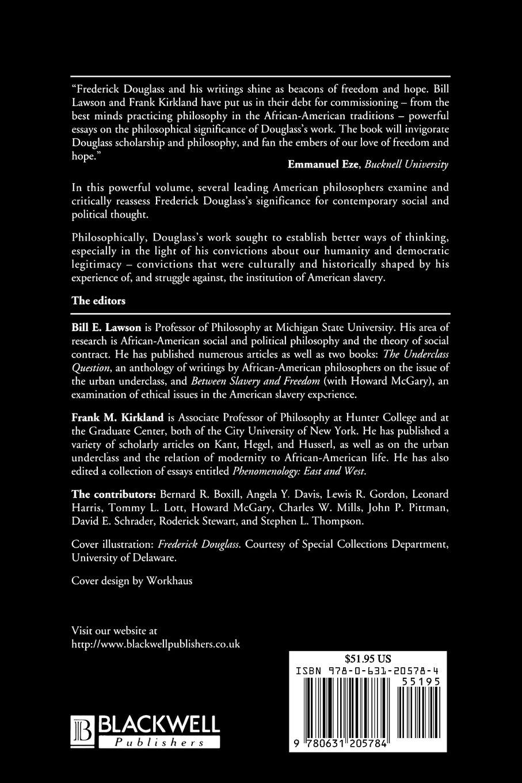frederick douglass a critical reader bill lawson frank kirkland frederick douglass a critical reader bill lawson frank kirkland 9780631205784 com books