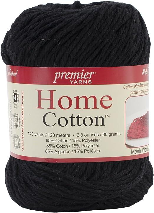 Premier Yarns Home - Hilo de algodón, Color Negro: Amazon.es: Hogar