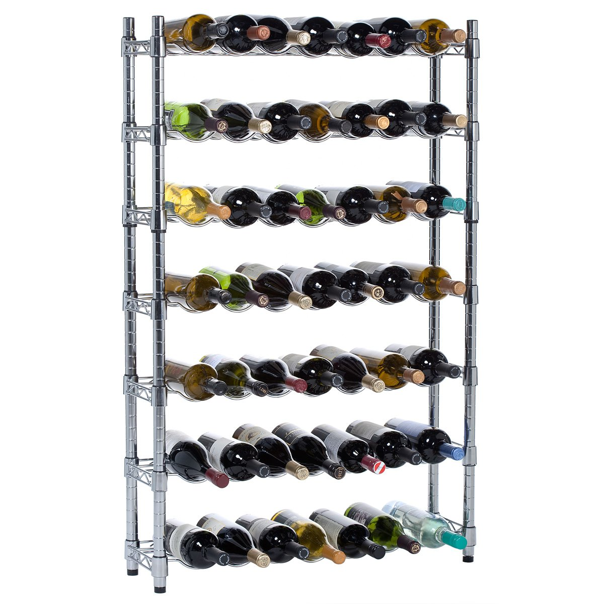 Oenophilia Epicurean Wine Rack Storage System,  7 Row - 91 Bottle by Oenophilia