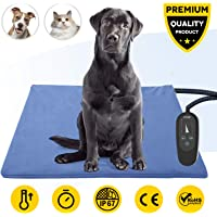 Upgraded Pet Heating Pad with Timer,Temperature Adjustable Pet Bed Heater Warmer with Chew…