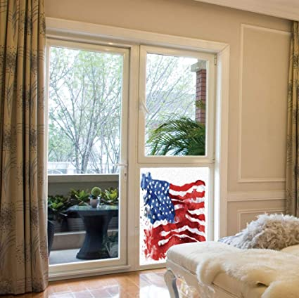 Stained Glass American Flag.Amazon Com Yoliyana Frosted Window Film Stained Glass