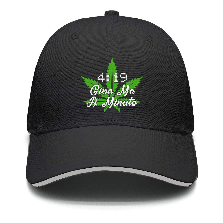 TylerLiu Baseball Cap Give Me A Minute Weed Marijuana Snapbacks Truker Hats Unisex Adjustable Fashion Cap