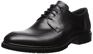 ECCO Men's Lisbon Plain Toe Tie Oxford, Black, 39 EU/5-5.5
