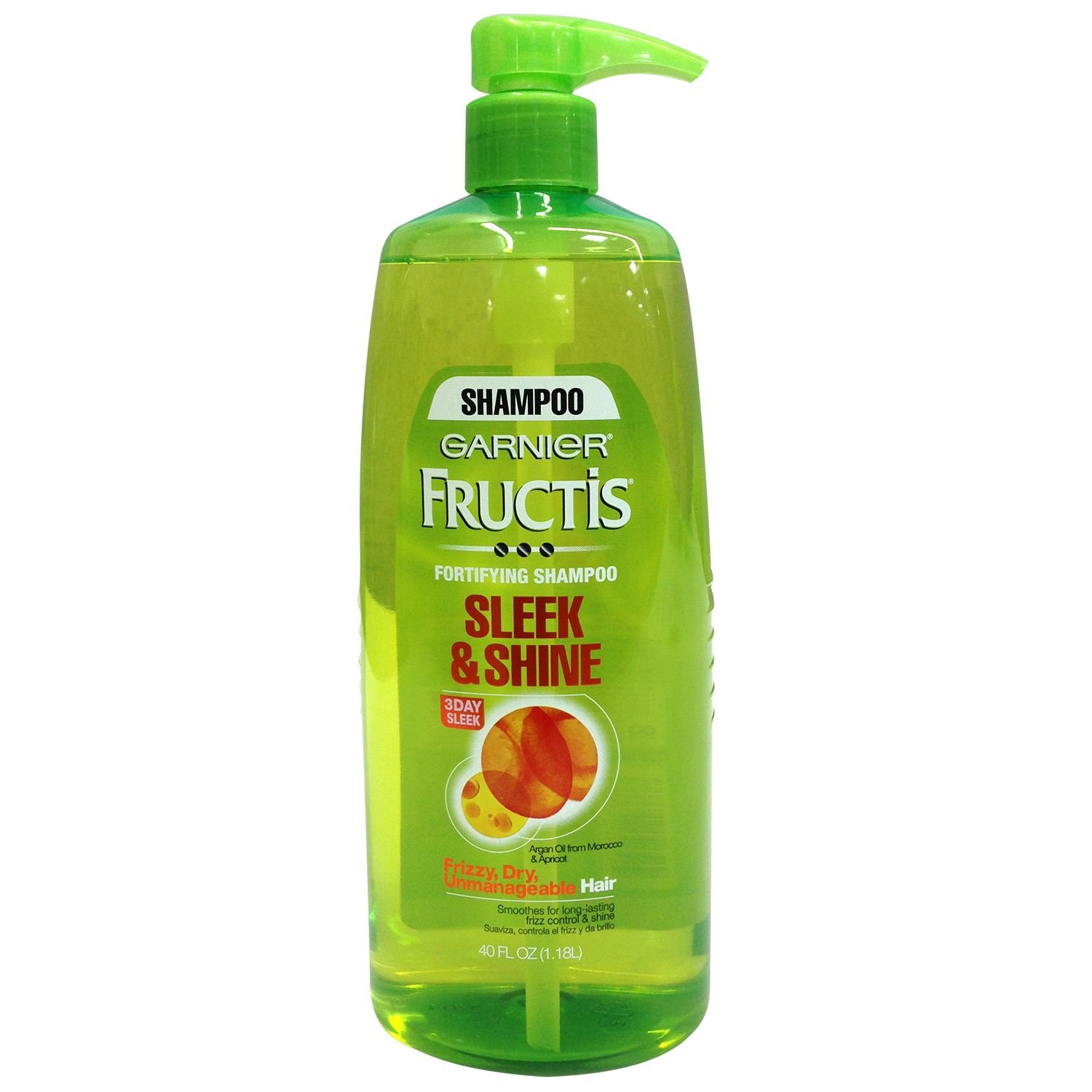Garnier Fructis Shampoo Sleek & Shine - Pump - 40 oz.