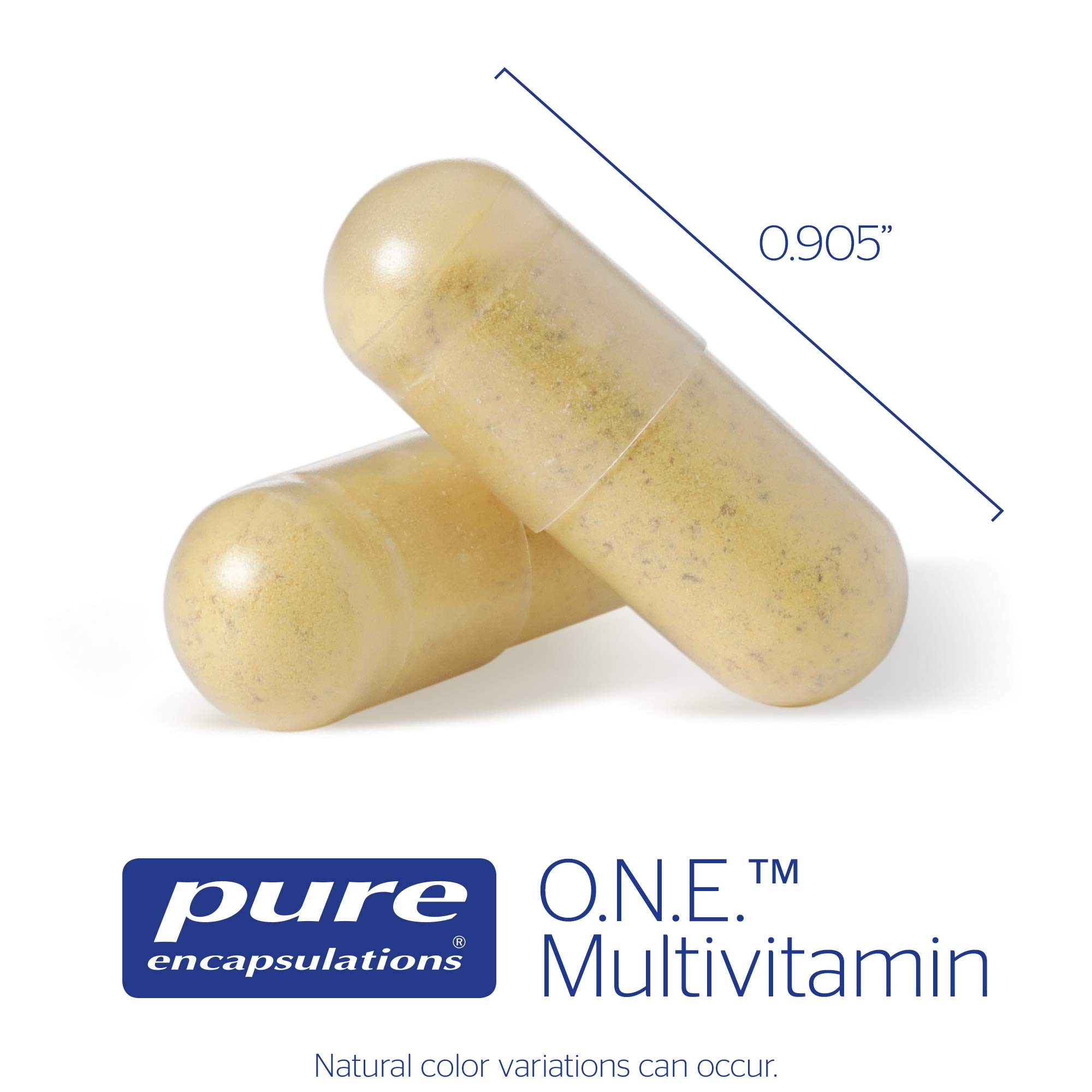Pure Encapsulations - O.N.E. Multivitamin - Once Daily Nutrient Essentials with Metafolin L-5-MTHF and Sustained Release CoQ10 - Hypoallergenic Dietary Supplement - 60 Capsules by Pure Encapsulations (Image #2)