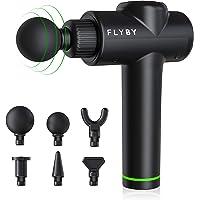 Pistola de masaje de tejido profundo, Flyby F1Pro, masajeador de percusión silencioso de mano, dolor muscular y…
