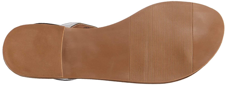 Size 6.0 Silver Steve Madden Womens Takeaway Leather Open Toe Casual Slingback