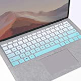 MUBUY Keyboard Cover Fit 2020 2019 Microsoft Surface Pro 7, 2019 2018 Surface Pro 6 Premium Ultra Thin Soft Touch Keyboard Protective Skin(Not fit Pro 5 4), US Layout-Mint Green