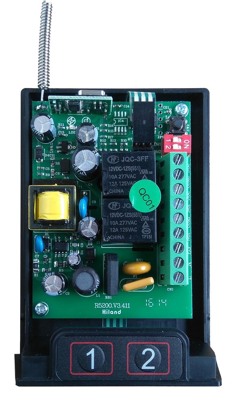 Accensione Luci Con Radiocomando.Kit Accendi Luci Con Telecomando Ricevitore Luci 2 Canali