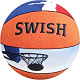 """iscream Game On! 'Swish' Photoreal Basketball Shaped 13"""" Microbead Accent Pillow"""