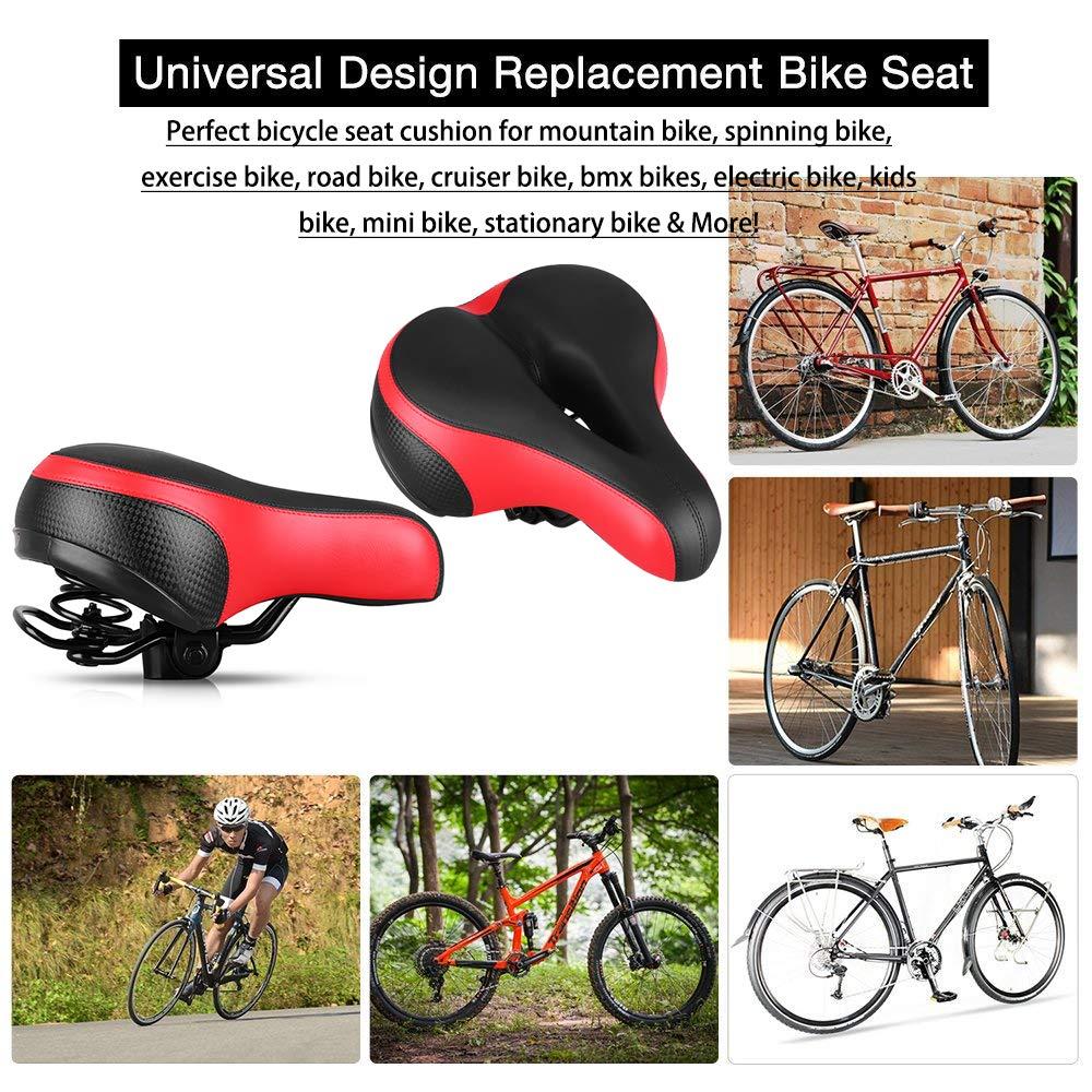 White/&Black  BMX  Bike Cycling Racing Bike Bicycle  Seat  Mountain Bike Saddle