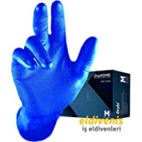 Beybi Diamond Mavi Pudrasız Eldiven M-L