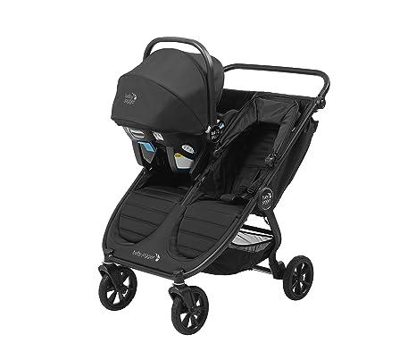 Jet zusammenklappbar /& tragbar Zwillingsbuggy schwarz f/ür jedes Gel/ände Baby Jogger City Mini GT2 Geschwisterwagen