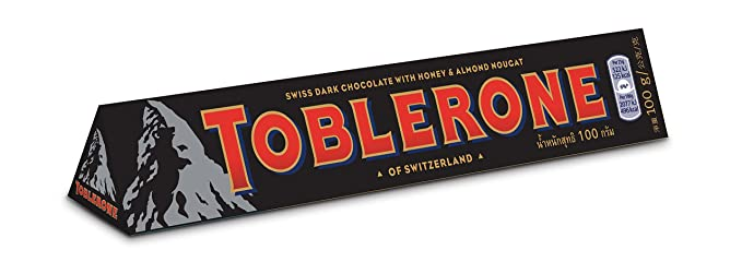 Toblerone Dark Chocolate 100 G Pack Of 20 Amazoncouk