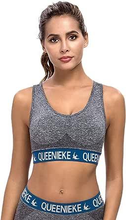 QUEENIEKE Women Sports Bra Seamless Racerback Energy Gym Top