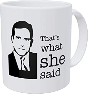 della Pace That's What She, Office, Boss 11 Ounces Funny Coffee Mug Gag Gift