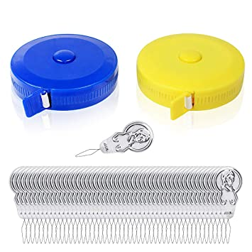 NEW 3 Pack 1.5M Sewing Tailor Flexible Fabric Measuring Tapes White 60 Inches Uk