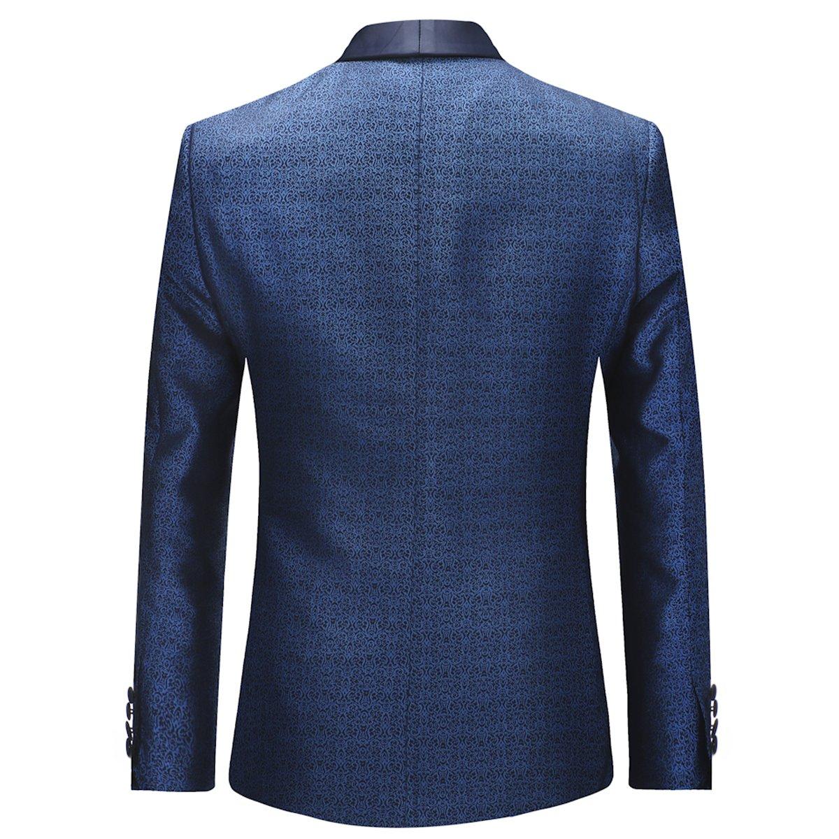 Sliktaa Costume Homme 3 Pi/èces Mariage Bal daffaires Mode Moderne Slim Fit Tuxedo Veste Gilet et Pantalons Gris Bleu XXS-XXL