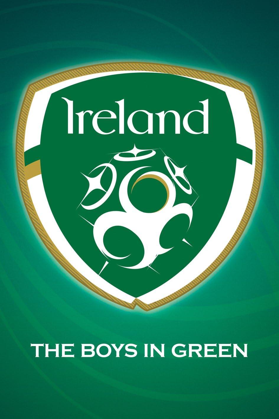 Sports Fan Soccer Football Poster Print 24x36 The Boys in Green gb Republic of Ireland National Football Team Crest