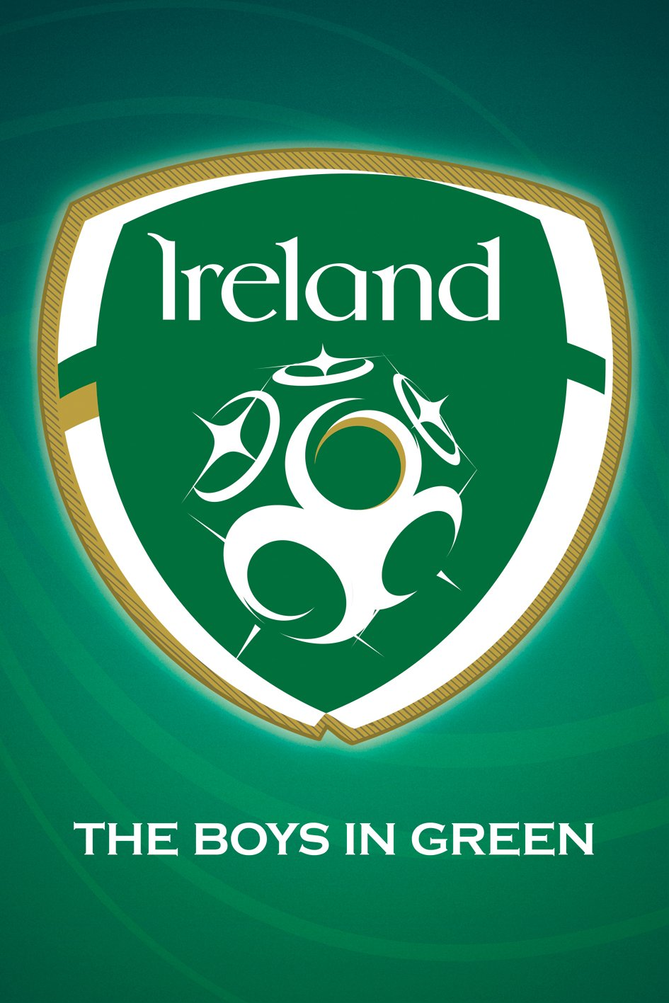 Amazon republic of ireland national football team crest the amazon republic of ireland national football team crest the boys in green sports fan soccer football poster print 24x36 home kitchen buycottarizona Image collections