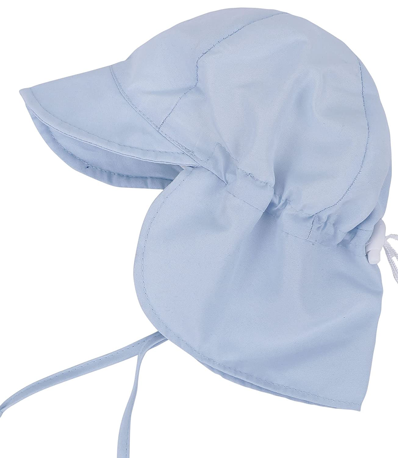 SimpliKids UPF 50+ UV Ray Sun Protection Baby Hat w/ Neck Flap & Drawstring