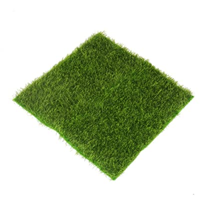KITCHINDRA Micro Landscape Moss Ornament Turf Faux Lawn for Miniature Garden (Green)