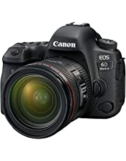 Canon EOS 6D Mark II Advanced Kit with EF 24-70mm f 4 L IS Digital Camera - SLR(6DIIADK) 3Inch Display,Black (Australian warranty)