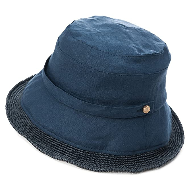 d55499c3a5295 SIGGI Womens Summer Bucket Boonie UPF 50+ Wide Brim Linen Sun Hat Rollable  Beach Accessories