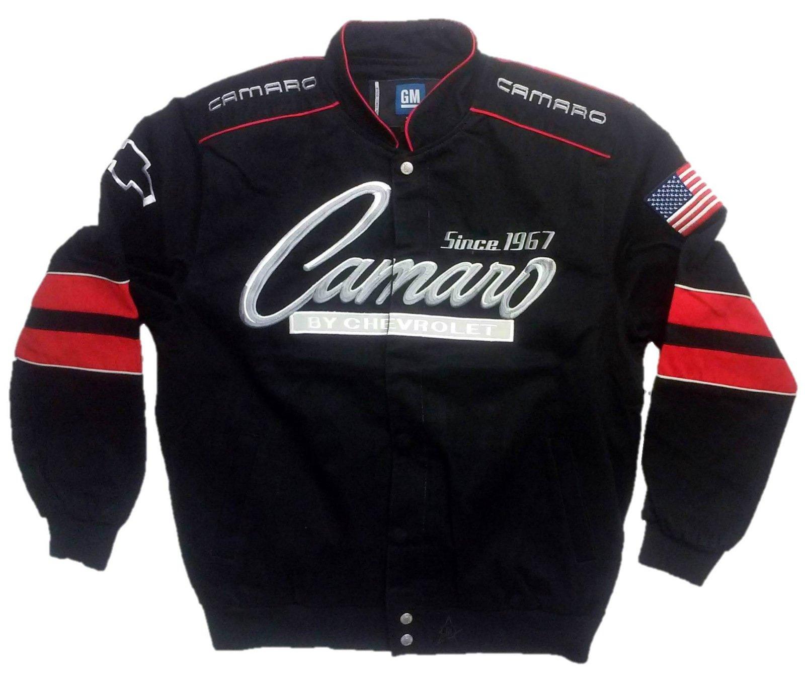J.H. Design JH Design Chevy Camaro Cotton Twill Jacket, XXX-Large, Black by J.H. Design (Image #1)