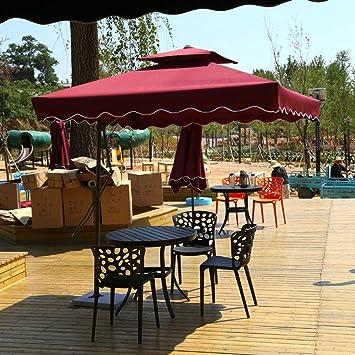 Sombrilla De Patio Sombrillas De JardíN Cuadradas, Lluvia Y Anti-Anti-Sai Desde El Exterior Sombrillas De Patio, BalcóN Al Aire Libre Playa Sombrilla Voladiza: Amazon.es: Hogar