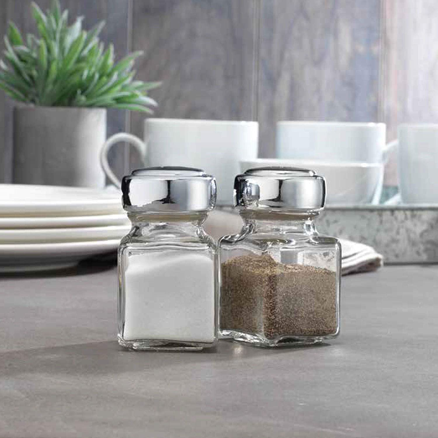 Home Essentials Tablescape Salt And Pepper Shakers 4.4 Oz Each
