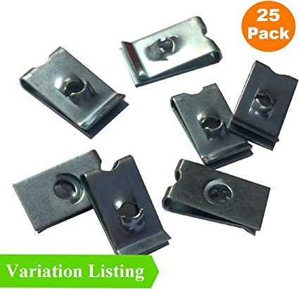 50 Pieces  Car Tread Panel Bumper Steel Metal Clip Fastener Speed Mounting Clamp