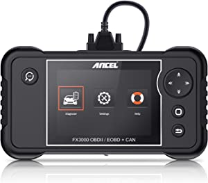 ANCEL FX3000 Automotive OBD II Scanner Vehicle Check Engine Transmission SRS ABS OBD2 Code Reader Car EPB Oil Service Light SAS ABS BMS Reset Diagnostic Scan Tool