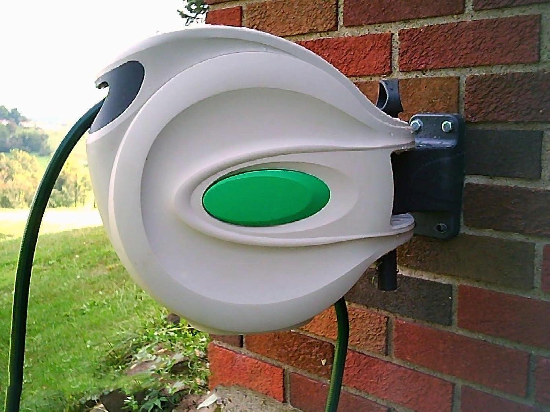 amazon com ikris retractable garden water hose reel 25 foot